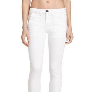 Rag & Bone White Light Wash Straight Leg Jeans